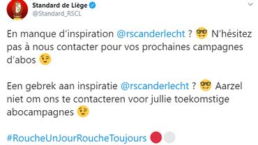 """Le Standard tacle """"le manque d'inspiration d'Anderlecht"""" sur les réseaux sociaux"""