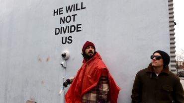 """Shia LaBeouf, """"He Will Not Divide Us"""""""