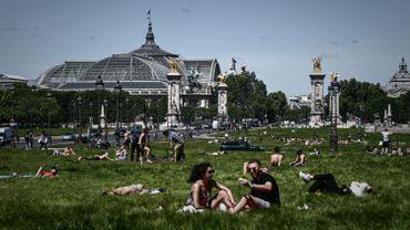 Les Parisiens ont profité du soleil.