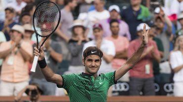 Roger Federer, radieux après sa victoire face à Rafael Nadal