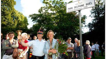 Delphine Boël a assisté à l'inauguration du lieu-dit en 2010.