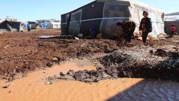 Des enfants dans un camp de réfugiés en Syrie.