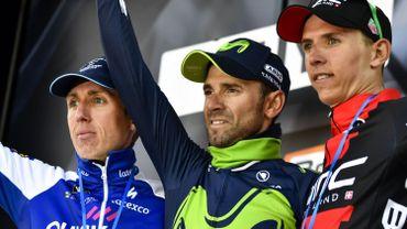 Le podium de la Flèche Wallonne 2017