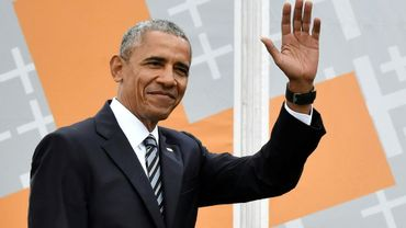 L'ex-président américain Barack Obama à Berlin le 25 mai 2017