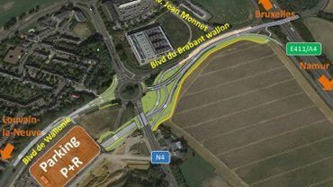 Le chantier colossal de liaison directe entre la E411 et le parking RER