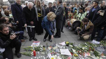 Une cérémonie d'hommages aux victimes des attentats de Bruxelles du 22 mars 2016