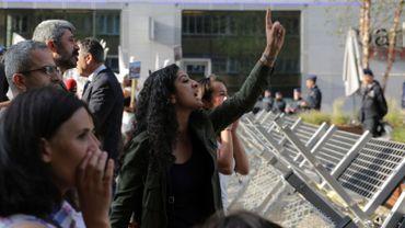 Manifestants à Bruxelles
