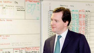 Le ministre britannique des Finances George Osborne à Londres, le 3 décembre 2012
