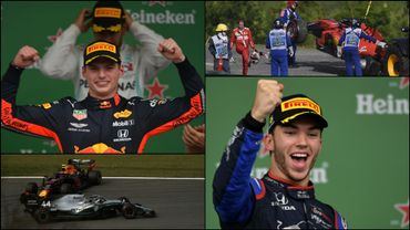 Verstappen s'adjuge un Grand Prix du Brésil au final délirant devant Gasly, Hamilton et Sainz!