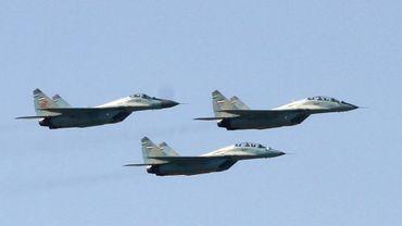 Illustration: ce sont des SU-30 comme ceux-ci (ici des avions de l'armée iranienne) qui ont intercepté aéronef américain