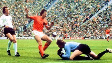 Johan Cruyff en finale de la coupe du monde 74 face à l'Allemagne
