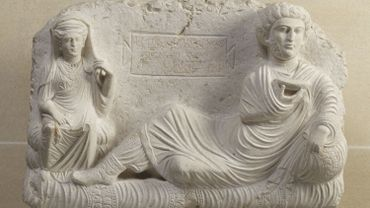 Relief funéraire de Taimé et de sa femme Hadira