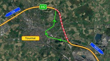 Fermeture nocturne d'une partie de l'E42 Mons-Tournai
