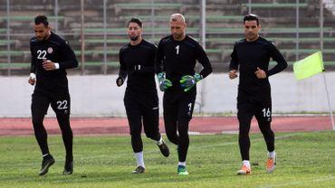 Les quatre gardiens tunisiens, Moez Ben Cherifia, Mouez Hassen, Farouk Ben Mustapha et Aymen Mathlouthi