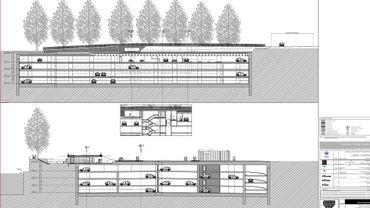 Le futur parking creusé dans le Grognon, entre la Sambre et la Meuse, à deux pas du Parlement de Wallonie