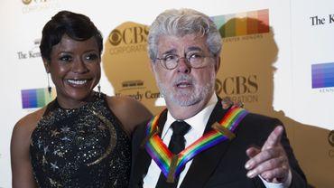 George Lucas et son épouse Mellody Hobson