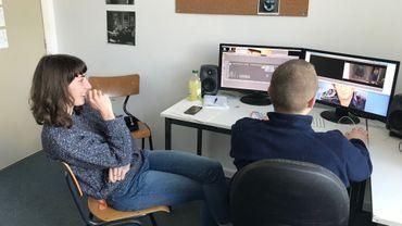 Les étudiants sont en plein montage de leur film de fin d'étude, avec pour certains l'espoir de le présenter à Cannes