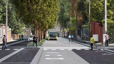 Le projet de BHNS et l'avenue Paul Pastur telle qu'elle pourrait être