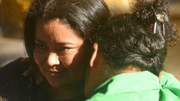 La Salvadorienne Maira Figueroa libérée après avoir passé 15 ans de prison pour fausse couche à San Salvador, le 13 mars 2018