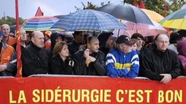 Salariés et syndicalistes le 27 septembre 2012 à Florange