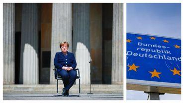 Angela Merkel lors des célébrations du 08 mai à Berlin, en 2020
