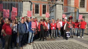 Manifestation syndicale contre une montée du MR dans la majorité liégeoise