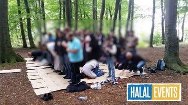 Extrait de la page Halal Events d'un réseau social.
