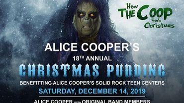 """Christmas Pudding"" entre amis pour Alice Cooper"