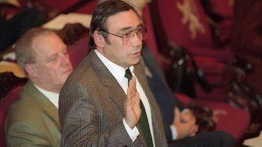 Maurice Minne, en 1995 au Sénat.