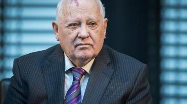 L'ex-dirigeant soviétique, Mikhaïl Gorbatchev lors d'un colloque sur la sécurité en Europe, le 8 novembre 2014 à Berlin