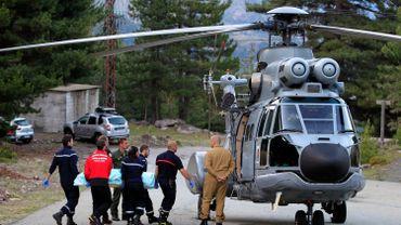 L'une des victimes du GR20 évacuée par hélicoptère