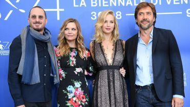 """L'équipe de """"Mother!"""" à la Mostra de Venise il y a quelques jours."""