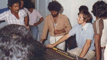 Philippe de Magnée en 1980 avec l'artiste et poète mauritien Bam Cuttayen