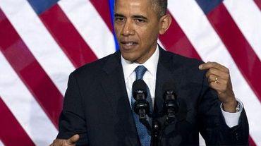 Le président américain Barack Obama lors d'une conférence de presse sur le thème de la réforme de la NSA, à Washington le 17 janvier 2014