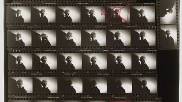 Andy Warhol (U.S.A., 1928–1987), Detail from Contact Sheet [Photo shoot with Andy Warhol with shadow], 1986. Gelatin silver print. Gift of The Andy Warhol Foundation for the Visual Arts, Inc., 2014.43.2893.