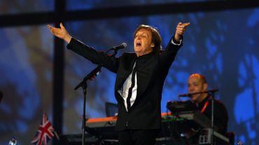 Paul McCartney lors de la cérémonie d'ouverture des JO de Londres en 2012