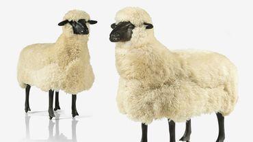"""""""Deux moutons de laine"""" de François-Xavier Lalanne"""