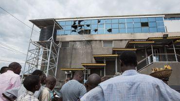 Le OcalKing Star Cyber Bar à Bujumbura, après une attaque à la grenade le 14 novembre.