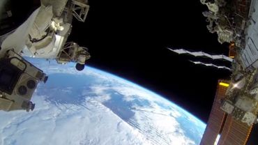 La Terre vue depuis l'extérieur de l'ISS