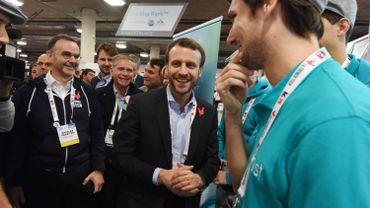Emmanuel Macron en janvier 2016 au CES de Las Vegas