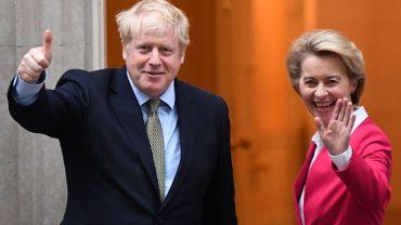 """Brexit: la présidente de la Commission européenne fera le """"bilan"""" avec Boris Johnson ce samedi"""