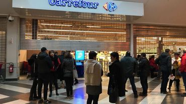 Au magasin Carrefour de Belle-île, les négociations ente direction et syndicats devraient encore durer des mois.