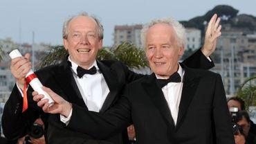 Jean-Pierre et Luc Dardenne en 2011, avec le Grand Prix du Jury pour Le Gamin au vélo