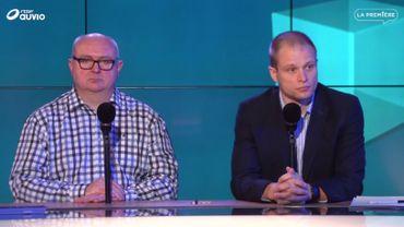 Pierre Lejeune (CGSP Cheminots) et Thierry Ney (porte-parole SNCB)