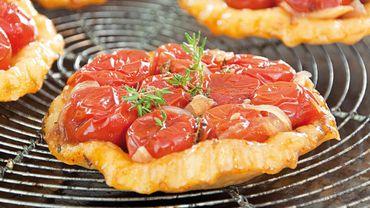 Petites tatins de tomates cerises