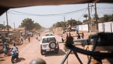 Un convoi de la Minusca à Bangui