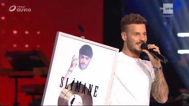 M Pokora et Vitaa surprennent Slimane sur la scène de The Voice