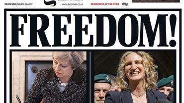 """""""Freedom!"""": la presse britannique euphorique ou inquiète pour commenter le lancement du Brexit"""