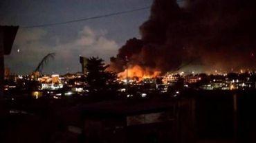L'Assemblée nationale du Gabon était en flammes mercredi soir à Libreville.