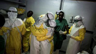 Dans un centre de traitement anti-Ebola de Médecins sans Frontières (MSF), à Bunia, dans l'est de la RD Congo, le 7 novembre 2018